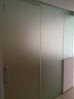 cerramiento cocina con vidrio templado mate