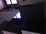 Frontal y encimera cocina de cristal