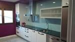 frontal de cocina en vidrio lacobel azul